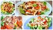 composition d'assiette de crudités