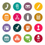 Fototapety Office supplies icons set