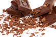 Chocolate bars and shaving