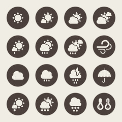 Weather day icons set