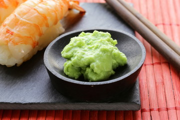 wasabi mustard sauce for Japanese food
