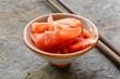 Leinwanddruck Bild - pickled ginger for sushi - Japanese spices