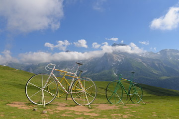 Bicycles on col d'Aubisque