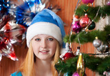 Teen girl in christmas