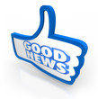 Good News Thumbs Up Like Announcement Important Update