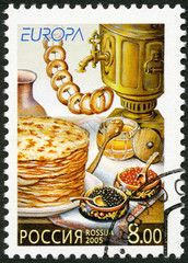 RUSSIA - 2005: dedicated gastronomy europa stamp issue program