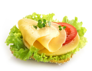 bread with cheese and vegetables