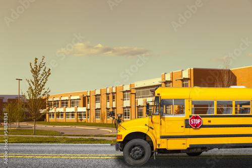 Leinwanddruck Bild School Bus