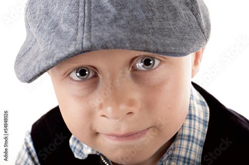 Junge mit Mütze - retro style
