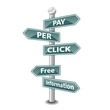 PAY PER CLICK icon as signpost - NEW TOP TREND