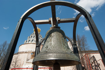 Orthodox bells. New Jerusalem in town Istra