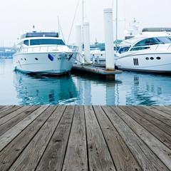 yachts at marina.