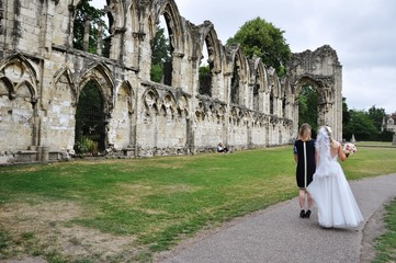 A Wedding at St Mary's Abbey, York, United Kingdom