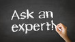 Ask an Expert Chalk Illustration