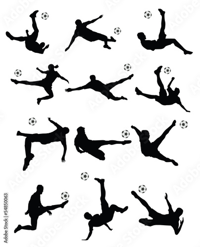 soccer player super kick vector