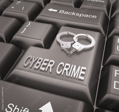 Cyber Crime , Keyboard concept