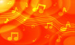 Orange Colored Musical Background