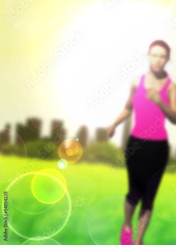 Running girl background