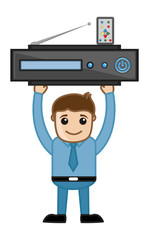 Blue Ray Player - Business Cartoons Vectors