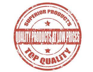 Quality products-stamp