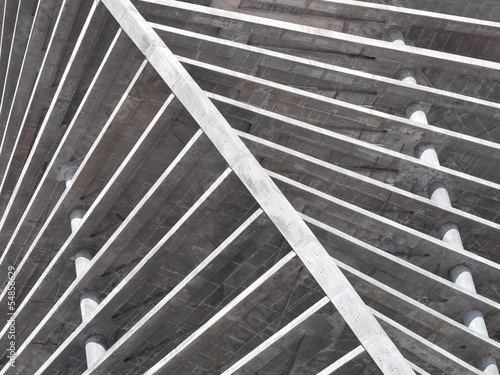 Concrete building construction. Abstract background.