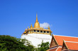 Golden mountain, an ancient pagoda at Wat Saket temple in Bangko
