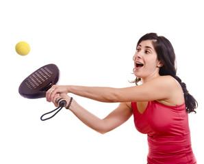 Paddle tennis sportswoman