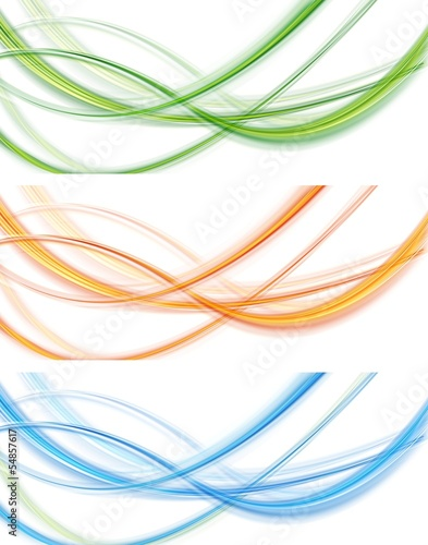 Abstract light modern banners. Vector template design eps 10