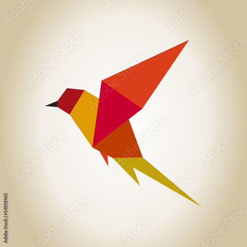 Poster Geometrische dieren Bird abstraction