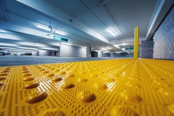 Industrial parking garage interior