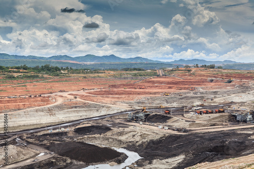 open pit lignite mine - 54858644