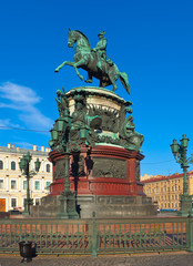 Monument to Nicholas I in Saint Petersburg, Russia