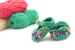 baby shoes  knitted