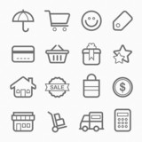 shopping symbol line icon