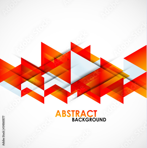 Abstract orange triangles design