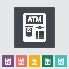 ATM flat icon