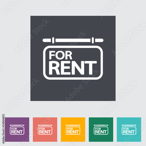 For rent. Single flat icon.