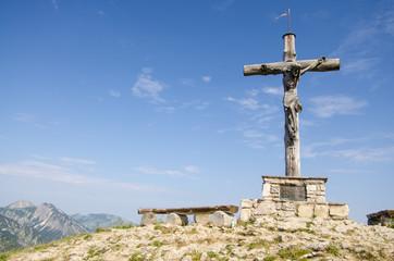 Gipfelkreuz aus Holz