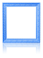 blue photo frame isolated on white