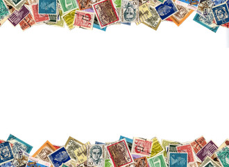 Postage stamps border