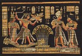 Ancient black egyptian papyrus