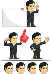 Businessman or Office Executive Customizable Mascot 5
