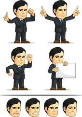 Businessman or Office Executive Customizable Mascot 2