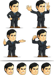 Businessman or Office Executive Customizable Mascot