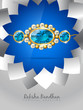 blue rakhi background