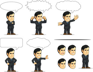 Businessman or Office Executive Customizable Mascot 13
