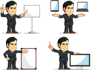 Businessman or Office Executive Customizable Mascot 12