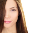Hair care beauty woman with long hair - brunette