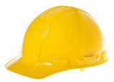 Isolated Hard Hat - 45° Yellow