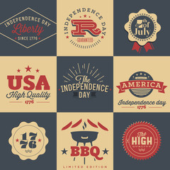 Independence Day typography elements